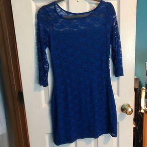 Blue Lace Hollister Dress